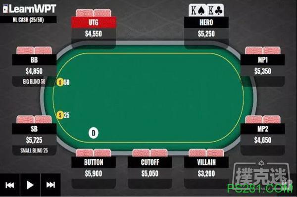 【6upoker】牌局分析:是否用KK跟注对手河牌圈的下注?