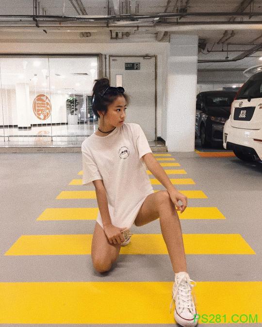 【6upoker】运动美女wan wei 时尚穿搭秀完美身材