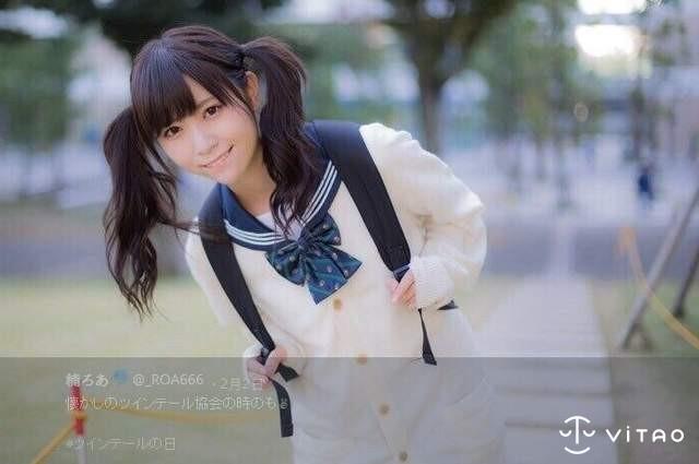 【6upoker】日本双马尾正妹楠ろあ 清纯少女挑战一人去海边
