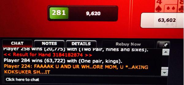 【6upoker】德州扑克你有没有被桌上的常客玩家斥责过?