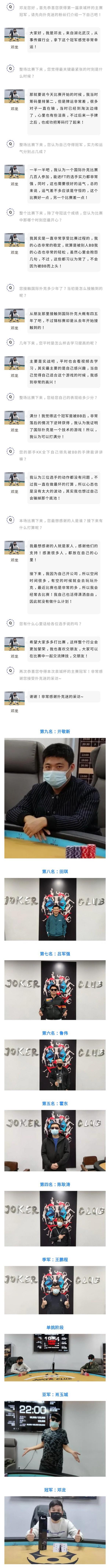 【6upoker】2021 SCPT泉城杯 | 主赛事圆满落幕,邓龙逆袭夺得首届冠军!