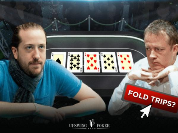 【6upoker】德州扑克对手河牌全压,要放弃这手三条吗?