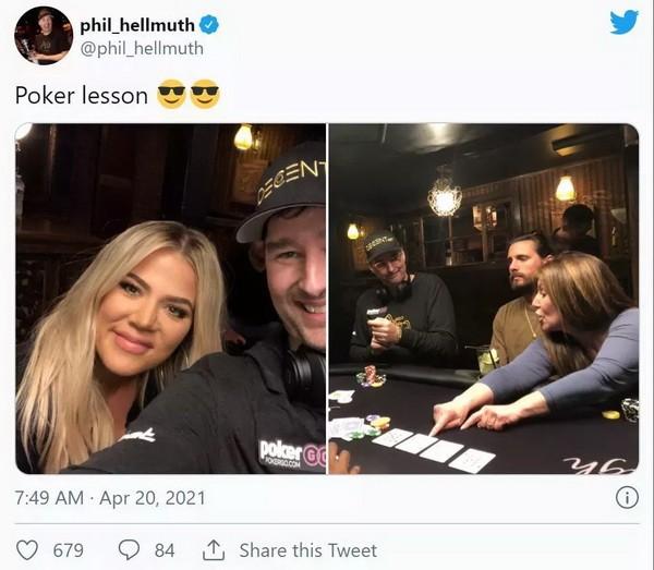 【6upoker】蹭热点?Hellmuth给卡戴珊上扑克课 Polk翻旧账暗讽土豪丹在2018年出售比特币行为