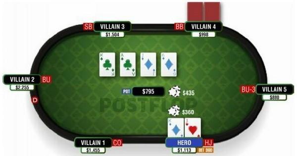 【6upoker】德州扑克使你构成底大两对的翻牌面-1