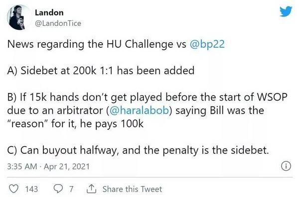 【6upoker】Bill Perkins与Landon Tice为两人间的单挑赛再添奖励 丹牛指出Phil Hellmuth存在的漏洞