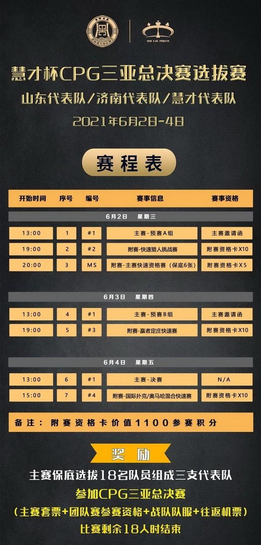 """【6upoker】2021CPG®济南选拔赛-""""幸福家园""""慈善团队赛开始接受组队报名!"""